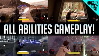 Leia, Han Solo, Boba Fett, Palpatine Gameplay & Abilities - All Heroes Battlefront Gameplay