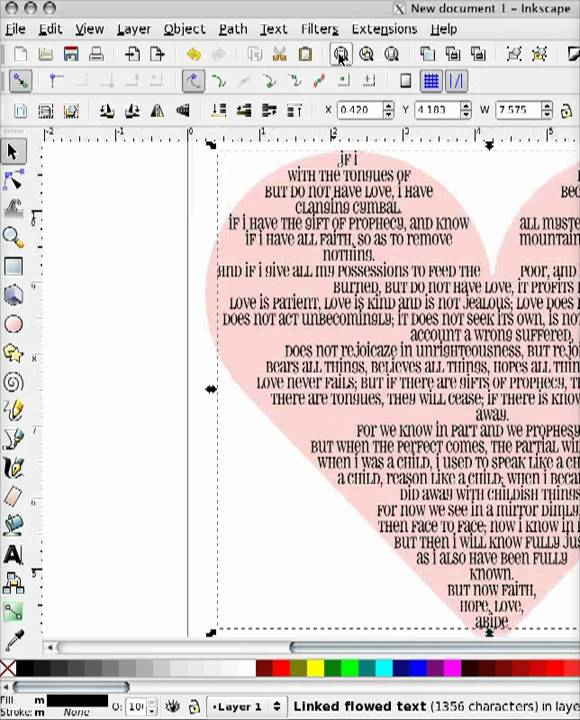 How To Flow Text Into A Shape In Inkscape