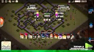 Clash of clans ayuntamiento 9 vs ayuntamiento 9