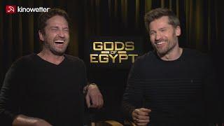 Interview gerard butler & nikolaj coster-waldau gods of egypt