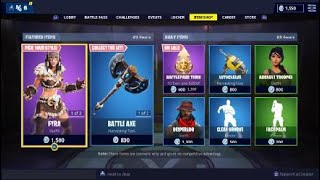 Fortnite - NEW SKIN's JAEGER & FYRM with GLIDER & HARVESTING TOOL TUSK & BATTLE AXE