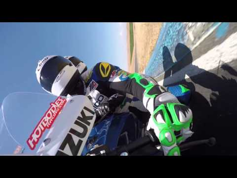 chris ulrich gives akihito arai a ride on the geico suzuki 2 seat superbike youtube. Black Bedroom Furniture Sets. Home Design Ideas