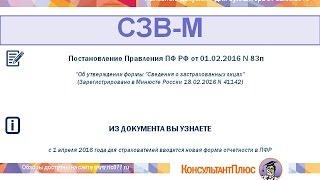 видео Форма СЗВ-М «Сведения о застрахованных лицах»