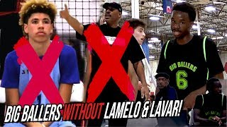 Big Ballers FIRST Game WITHOUT LaMelo & Lavar Goes BAD! 17U Struggle With 15 Year Old Players!