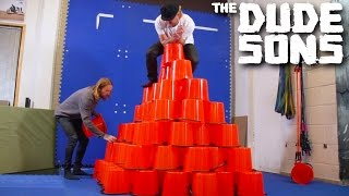 Tumbling Down In The Bucket Challenge! - The Dudesons