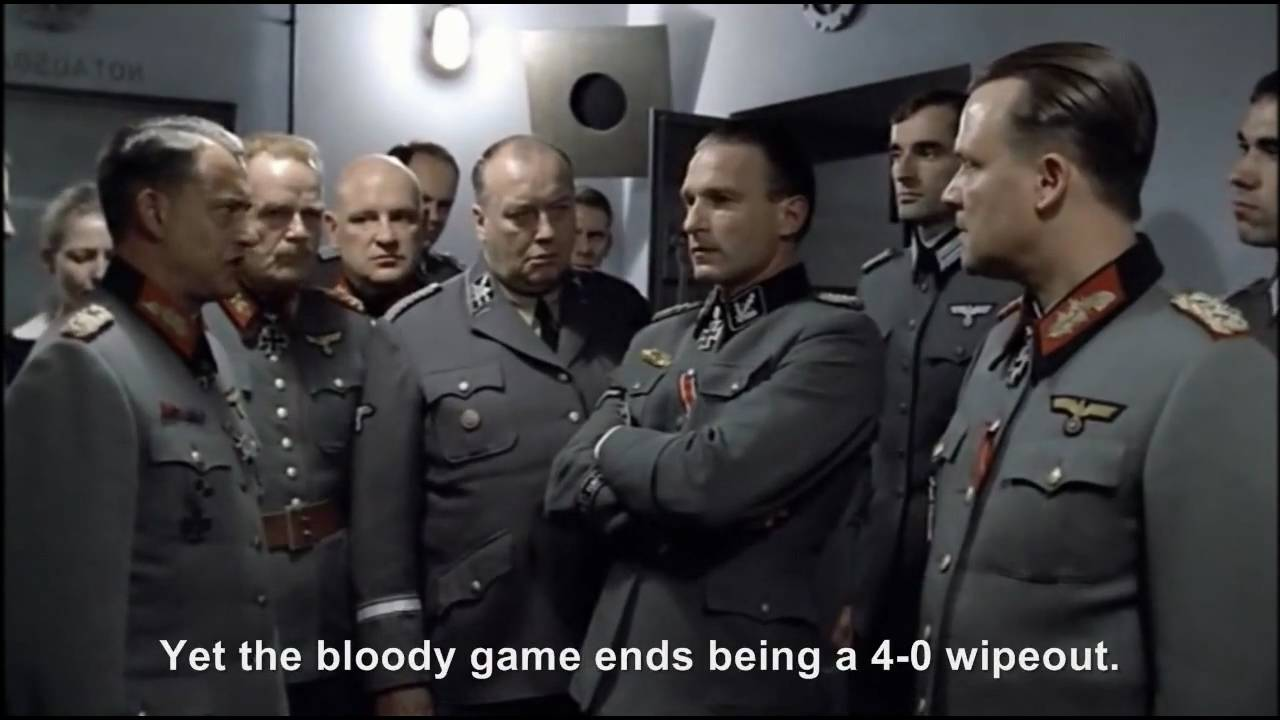 Hitler and the Bunker react to Germany's 4-0 victory against Argentina