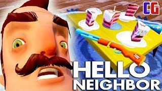- Hello Neighbor ДОБЫЛ ТАЙНОЕ ОРУЖИЕ СОСЕДА Новые тайны Акт 3 Мультяшный хоррор Привет Сосед