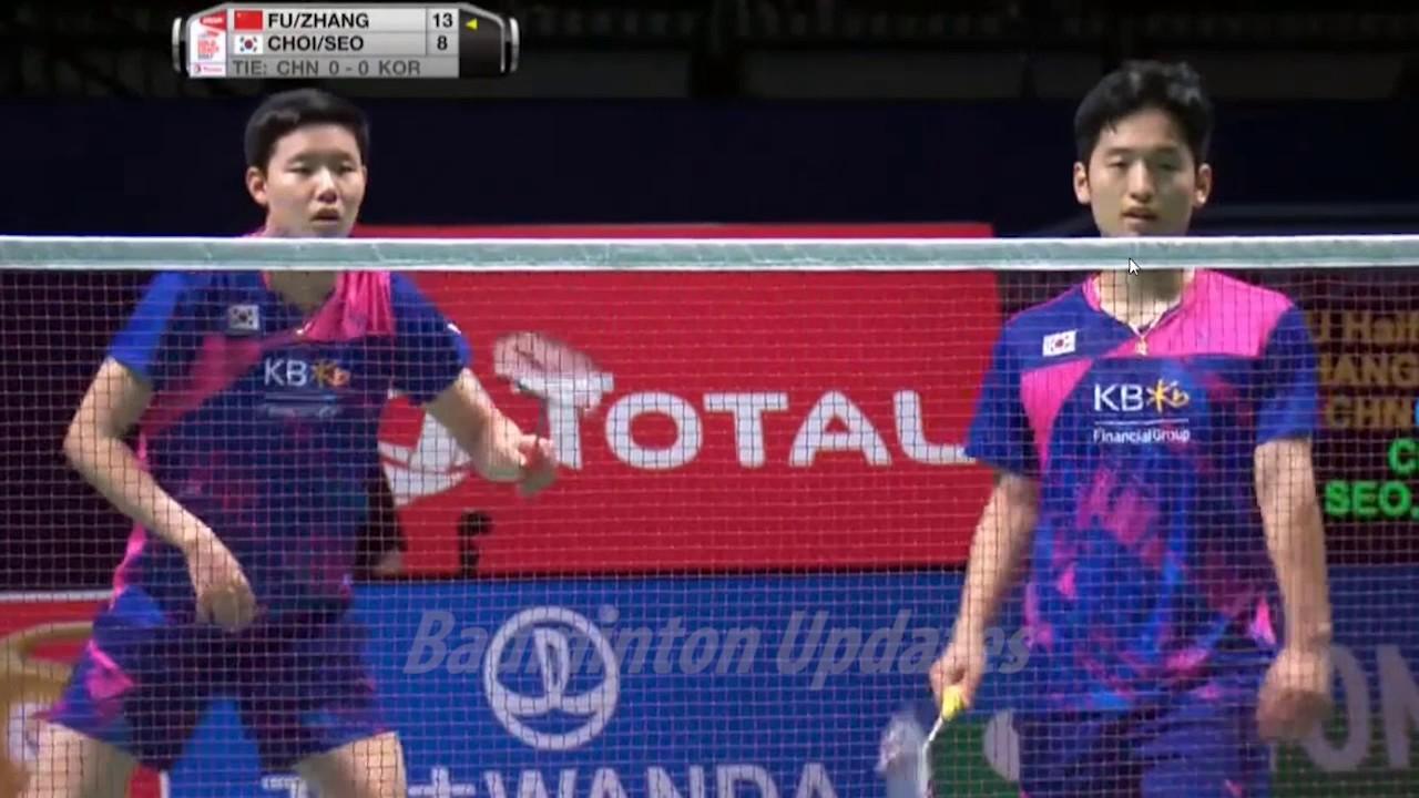 Sudirman Cup Final Badminton 2017 Fu Haifeng Zhang Nan vs Choi