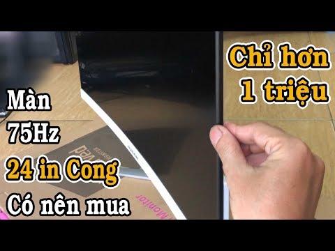 Review Màn  24 In Cong 75hz Giá Hơn 1 Triệu Hugon Có Nên Mua