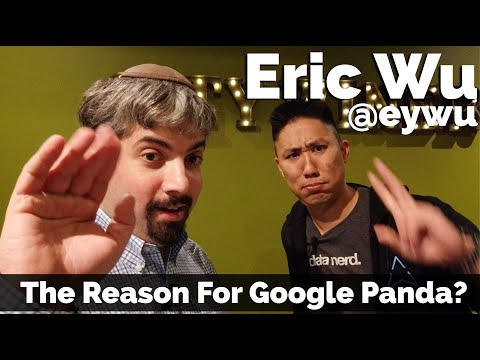 Eric Wu - The Reason Google Built The Panda Algorithm? - Vlog #60 from YouTube · Duration:  12 minutes 27 seconds