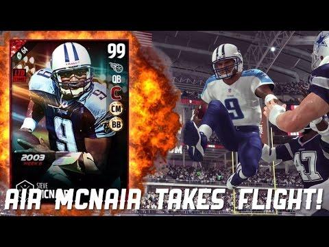 AIR MCNAIR TAKES FLIGHT! BOSS STEVE MCNAIR GAMEPLAY!! 99 OVR! - Madden 17 Ultimate Team