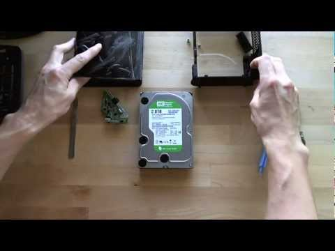 Western Digital My Book Essential 2TB - Removing The SATA Drive For My Unraid Server