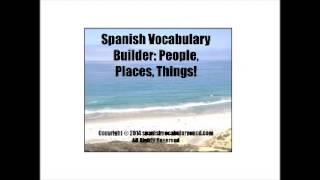 Spanish Vocabulary Builder Disc 1