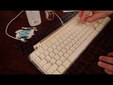 ASMR Triggers - Keyboard Cleaning (eMac)