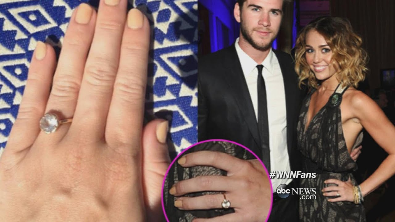 Superior Miley Cyrus And Liam Hemsworth Are Engaged ABC News