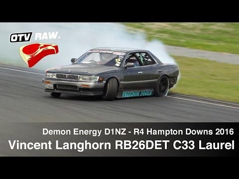 RAW: Vincent Langhorn RB26DET C33 Laurel - D1NZ Drifting R4 Hampton Downs 2016