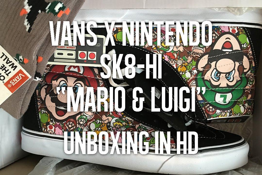 3a9e6d8460 Vans x Nintendo Sk8-Hi