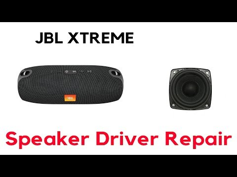 How To Repair JBL Xtreme Speaker Driver Replacement - YouTube