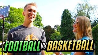 FOOTBALL vs BASKETBALL w/ Miniminter !!