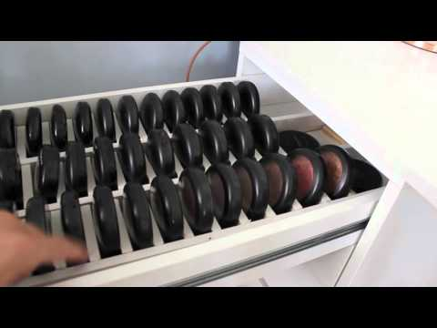 Updated Mac Makeup collection | Customized Makeup Storage