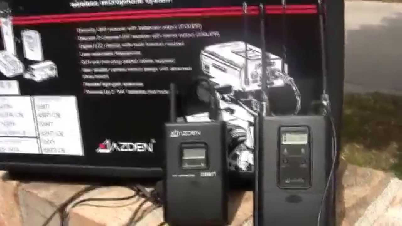 azden dual 330 channel uhf wireless microphone system review youtube. Black Bedroom Furniture Sets. Home Design Ideas