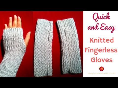 Knitted Fingerless Gloves | A Quick and Easy Knitted Project ...