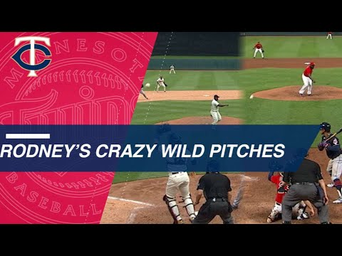 Rodney's pair of crazy wild pitches vs. Indians