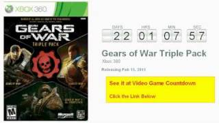 Gears of War Triple Pack Xbox 360 Countdown