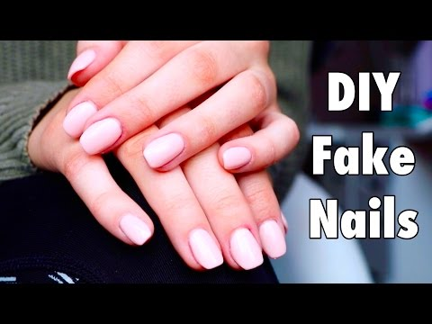 How to put fake nails on really short