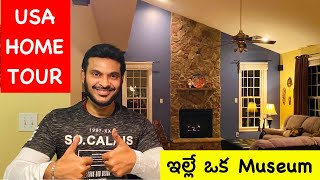 USA My Home Tour Part 1 | My home is my museum | US Telugu Vlogs |Ravi Telugu Traveller