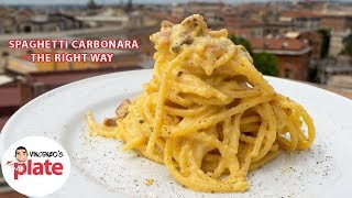 How to Make SPAGHETTI CARBONARA (Approved by Romans)