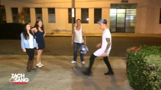 Justin Bieber played soccer with a bunch of fans in our parking lot after our interview! https://twitter.com/ZachSangGang ...