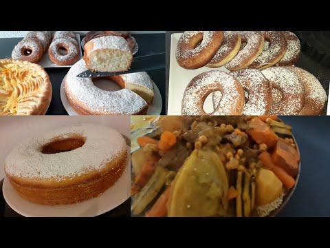 recette-rif//-couscous-simple-et-rapide-beignets-inratable-et-gâteau-au-citron-délicieux-👌