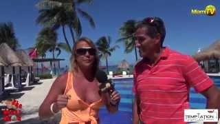 Repeat youtube video Jenny Scordamaglia in Cancun Temptation Resort - Adults Topless Optional Resort - MiamiTV