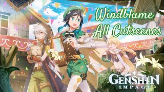Genshin Impact   Windblume Festival Event 1.4   All Cutscenes