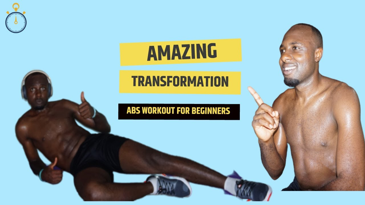 ABS WORKOUT FOR BEGINNERS No equipment.(day 6)
