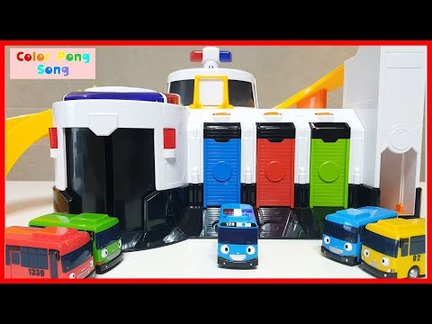 Thumbnail: Tayo Bus Emergency Center Toy Car Learn Colors Finger Family Song Nursery Rhymes Color Pong Song