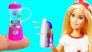10 DIY Barbie Hacks Dollhouse : Miniature blender, Iron, Washing machine and More Barbie Crafts
