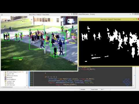 Multi target tracking Java OpenCV - 03