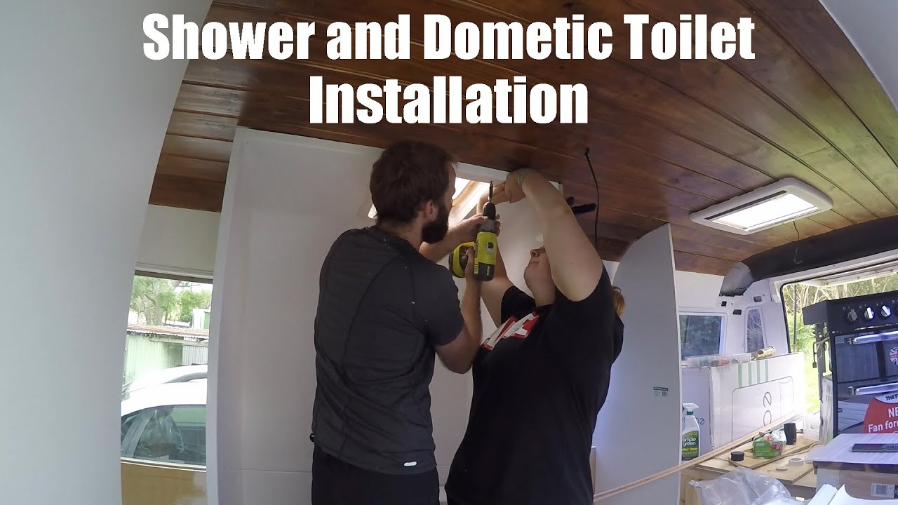 School Bus Conversion - Shower and Dometic Toilet Installation