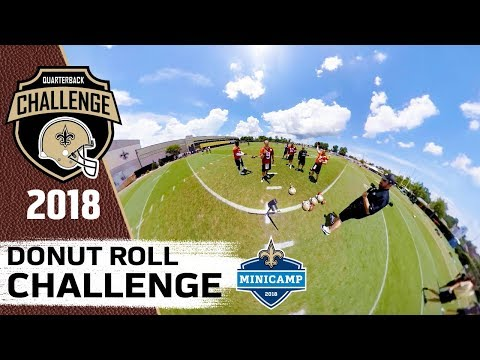 Donut Roll Challenge | 2018 QB Challenge | Mini Camp Edition