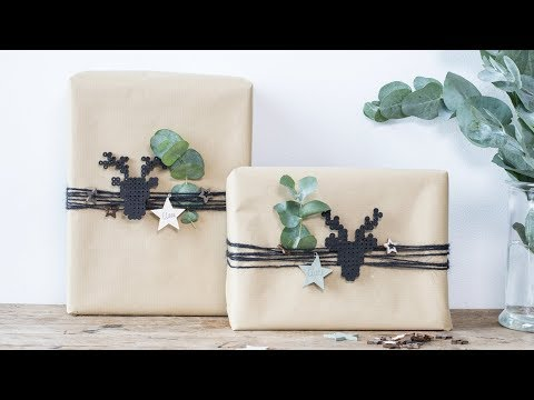 DIY: Creative gift wrapping idea by Søstrene Grene