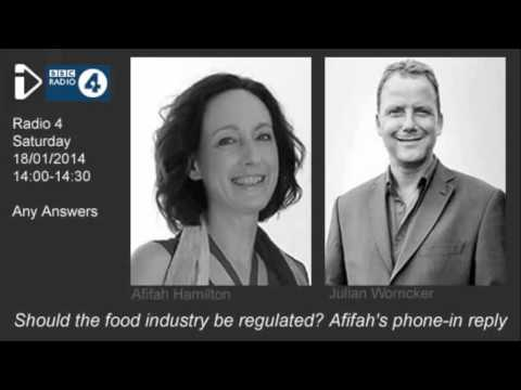 Any Answers Jan 2014   Should the Food Industry be Regulated