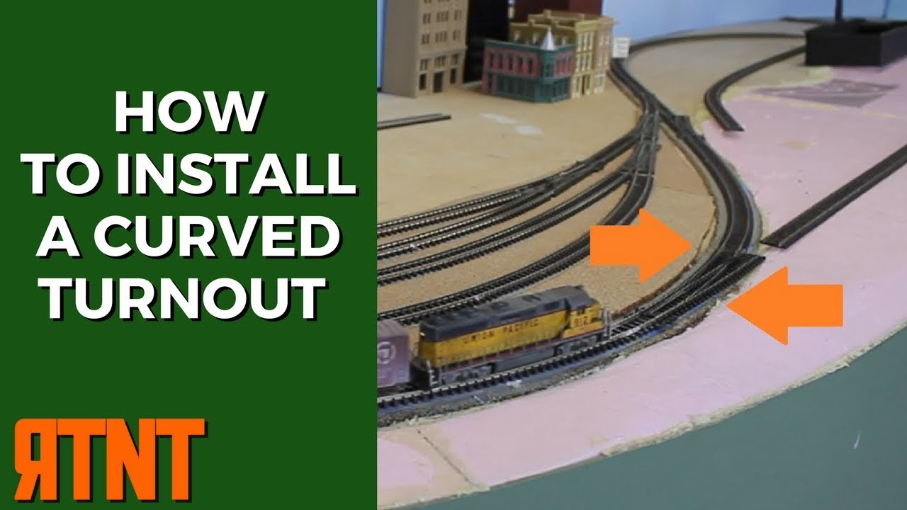 how to install a curved turnout on your model railroad layout [ 1280 x 720 Pixel ]