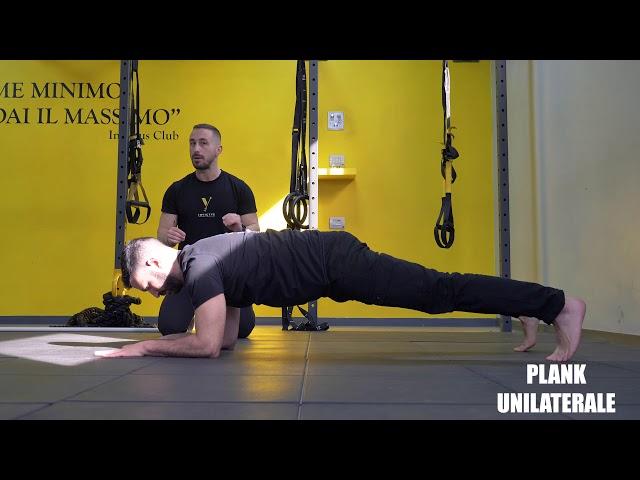 Plank unilaterale. Esecuzione e tecnica.