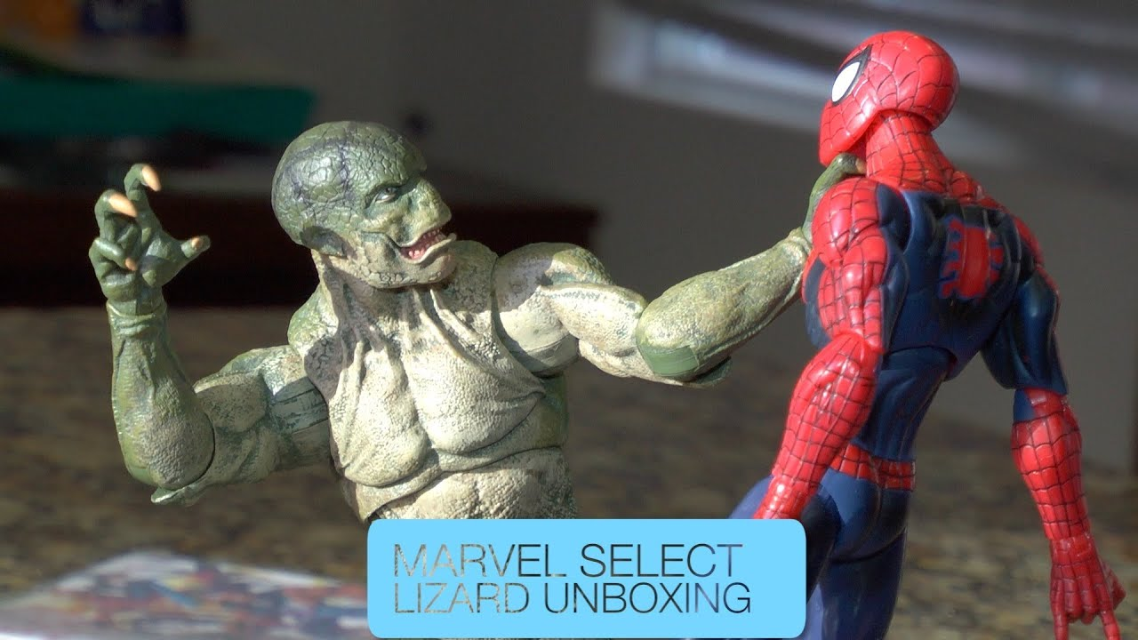 The amazing spider man toys lizard