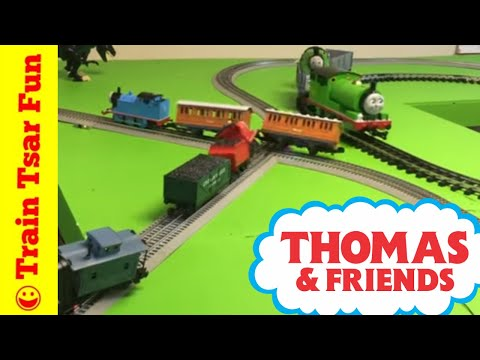 Thomas, James, Percy, Diesel – 4 Lionel Trains on 1 Track plus Iron Arry & Bert