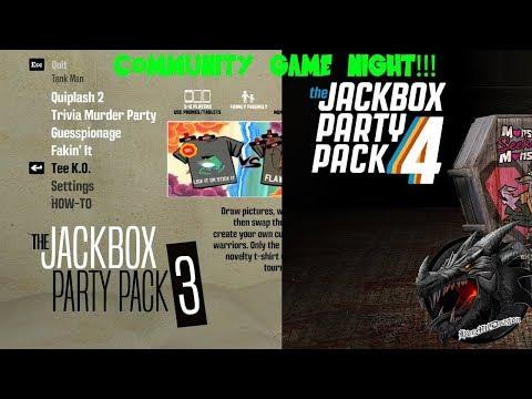 🔵LIVE🔵COMMUNITY GAME NIGHT! Jackbox Party Packs 3 & 4!
