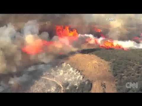 Los Angeles fires burn! 5-3-2013