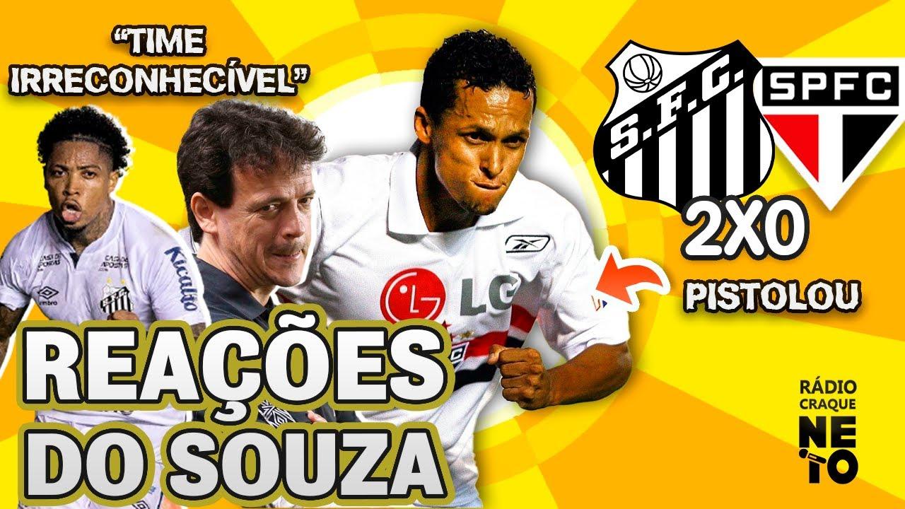 OLHA como o Souza reagiu a Santos 2x0 São Paulo pelo Brasileirão